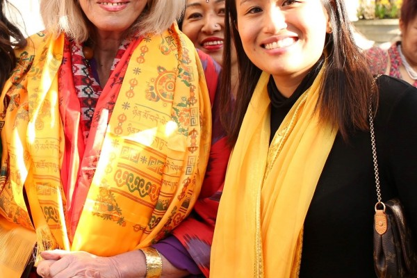 Actress and Advocate for the Gurkha Justice Campaign Miss Joanna Lumley with Nesha Gurung - Head of Operations at Topher Limited